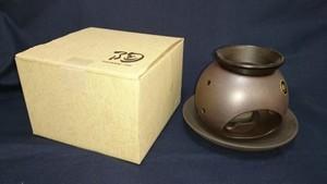 茶香炉 黒泥丸形 盛正 常滑焼